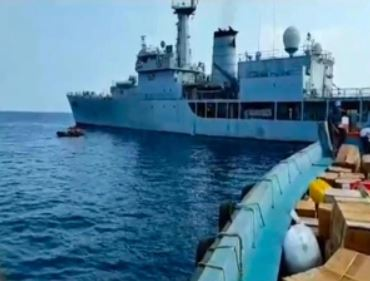 Indian Naval Ship Reaches Port Blair With Oxygen Cylinders