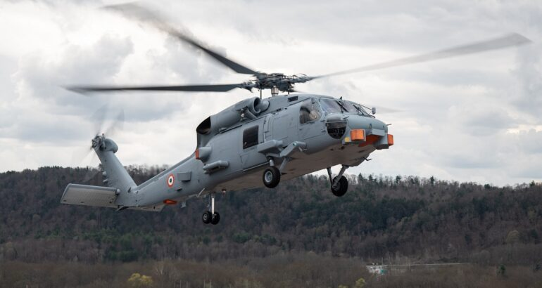 Indian Navy's First MH-60R Maritime Helicopter Takes Flight