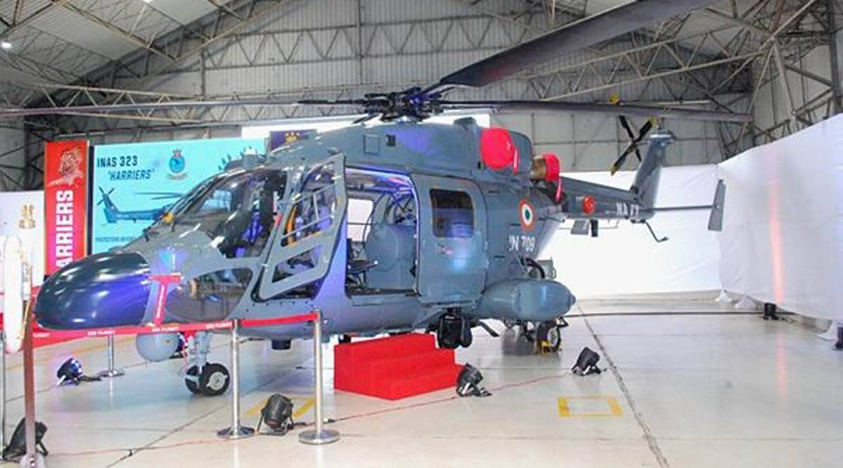 First Unit Of Indigeneously-Built Chopper ALH Inducted Into Navy