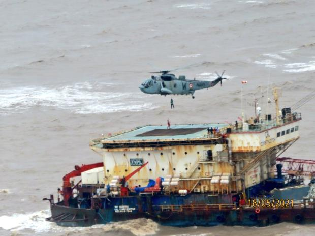 All Missing On Board Barge P305, Tugboat Accounted For, Says Navy
