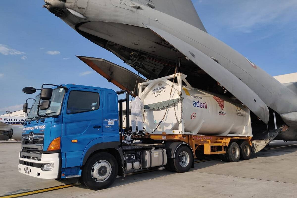 IAF Continues To Airlift Oxygen Tankers From Across The Globe; HAL Sets Up Hospital In Lucknow