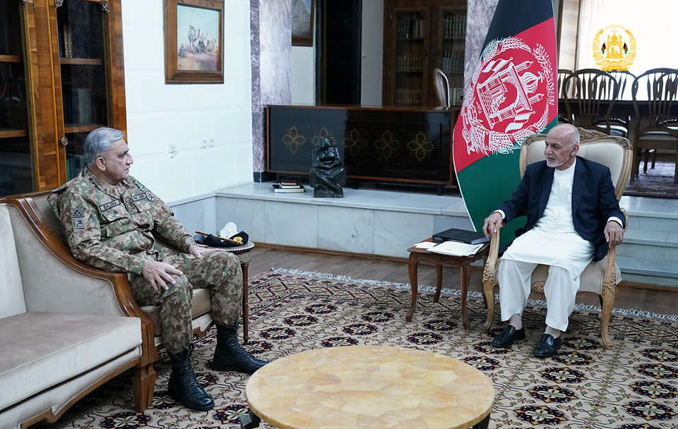 Pakistani general reiterates support for Afghan peace process as violence surges