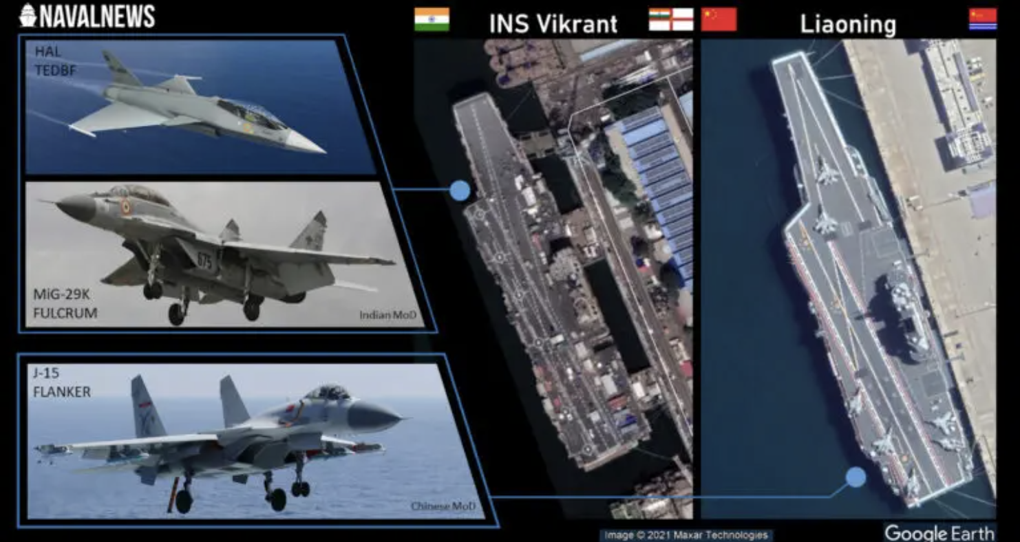 Indian Navy's First Indigenous Aircraft Carrier Vikrant Catching Up To China