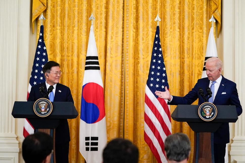 Biden, South Korea's Moon 'Deeply Concerned' About NKorea