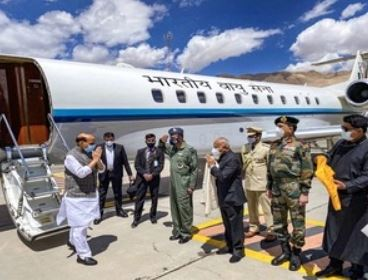 Rajnath Singh Reviews Ground Situation In Eastern Ladakh On First Day Of 3-Day Visit
