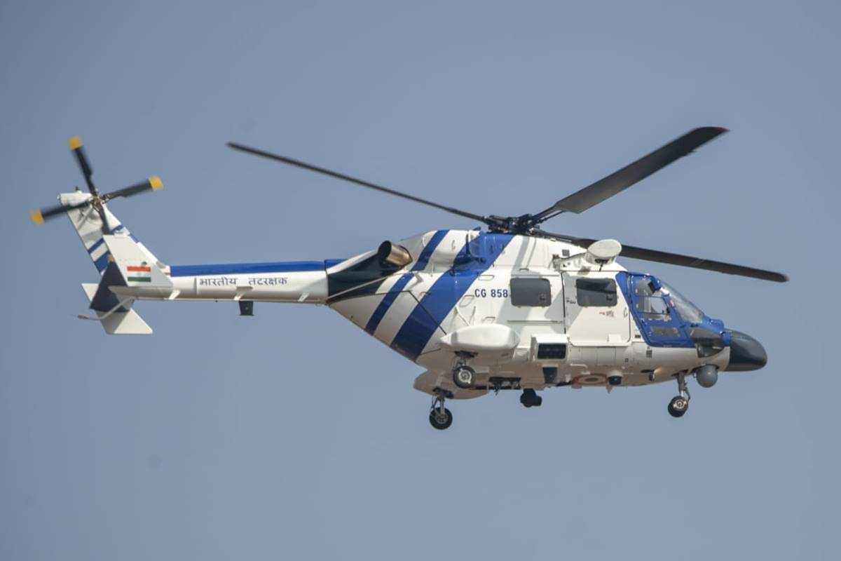Coast Guard Inducts Indigenously Built MK-III Advanced Light Helicopters