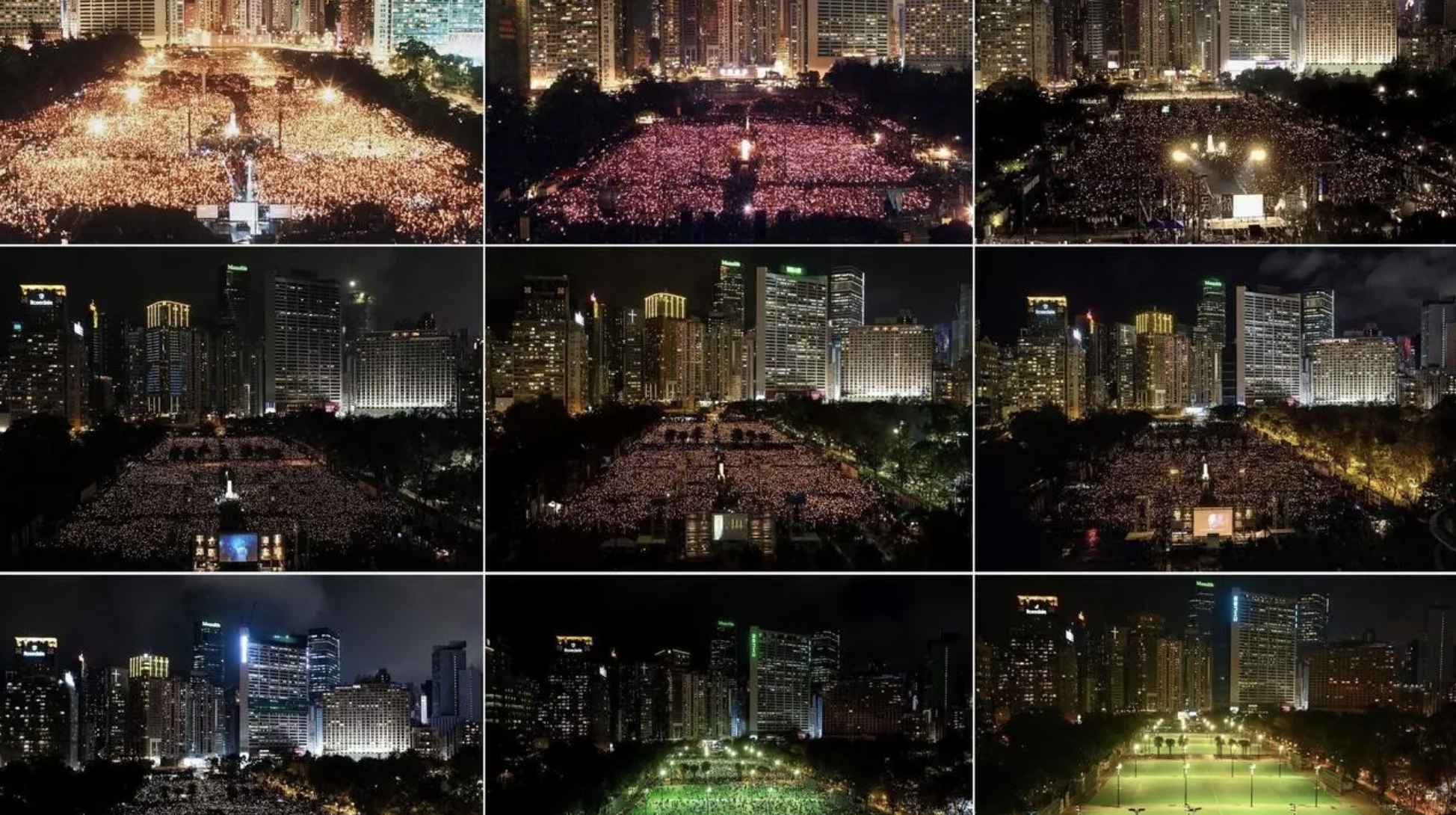 Hong Kong Park Empty on Tiananmen Anniversary but Protests Flicker