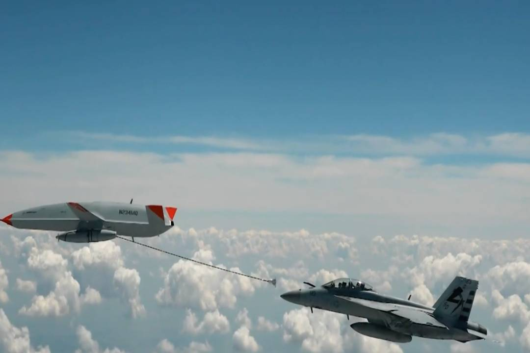 Drone Refuels U.S. Navy Fighter Jet in Midair for the First Time