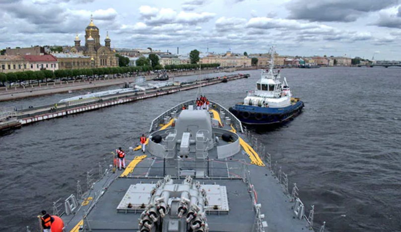Indian Warship At St Petersburg To Participate In Russia's Navy Day Event