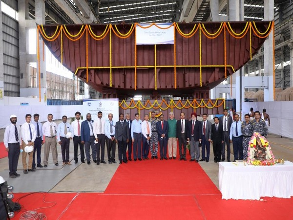 Navy Vice Chief lays keel of first warship of ASW shallow water craft project