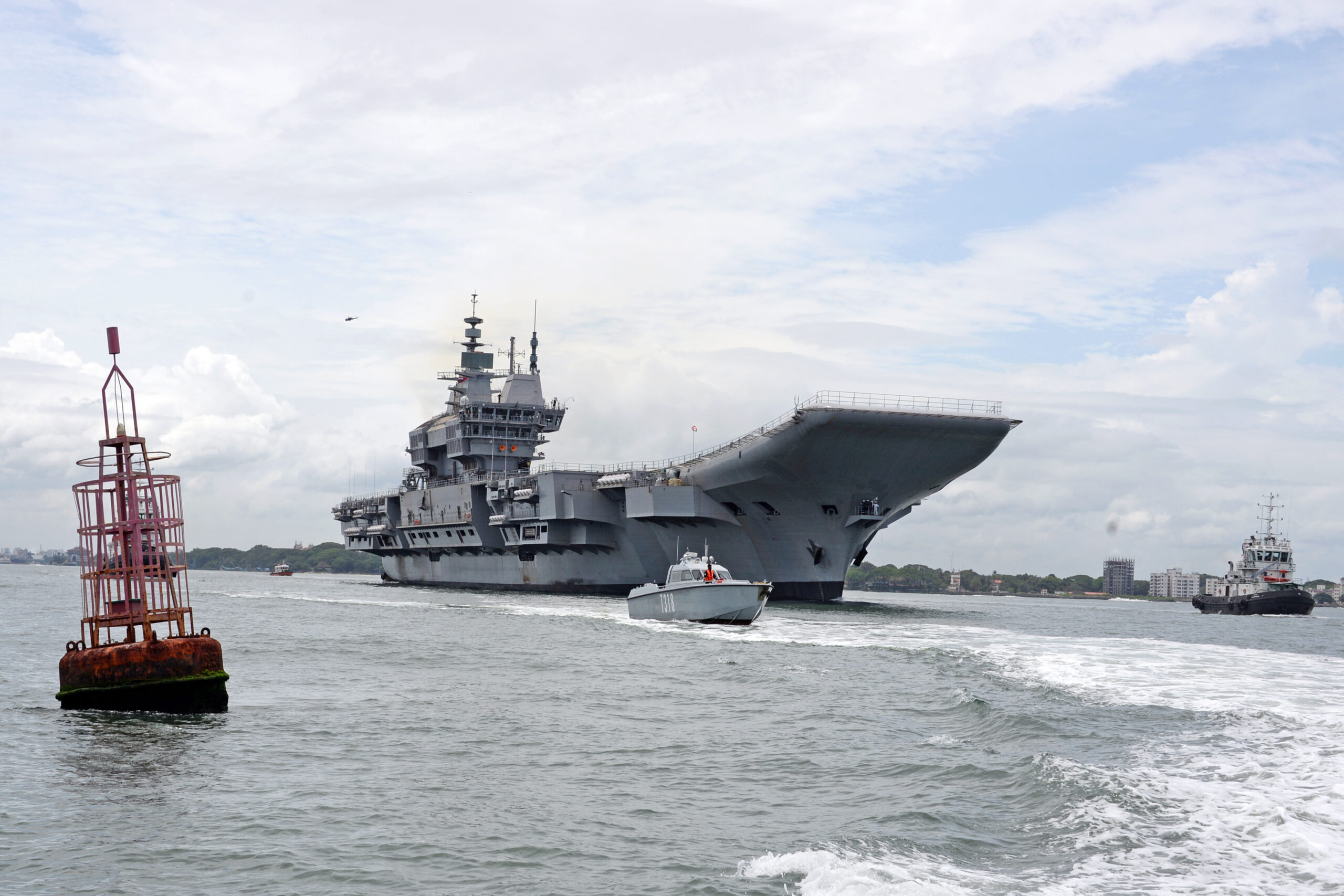 First Made-in-India Aircraft Carrier Vikrant Hits Water