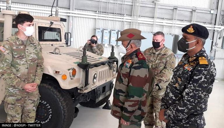 CDS General Rawat Meets US Maj Gen Brunson In Washington To Discuss Defence Cooperation