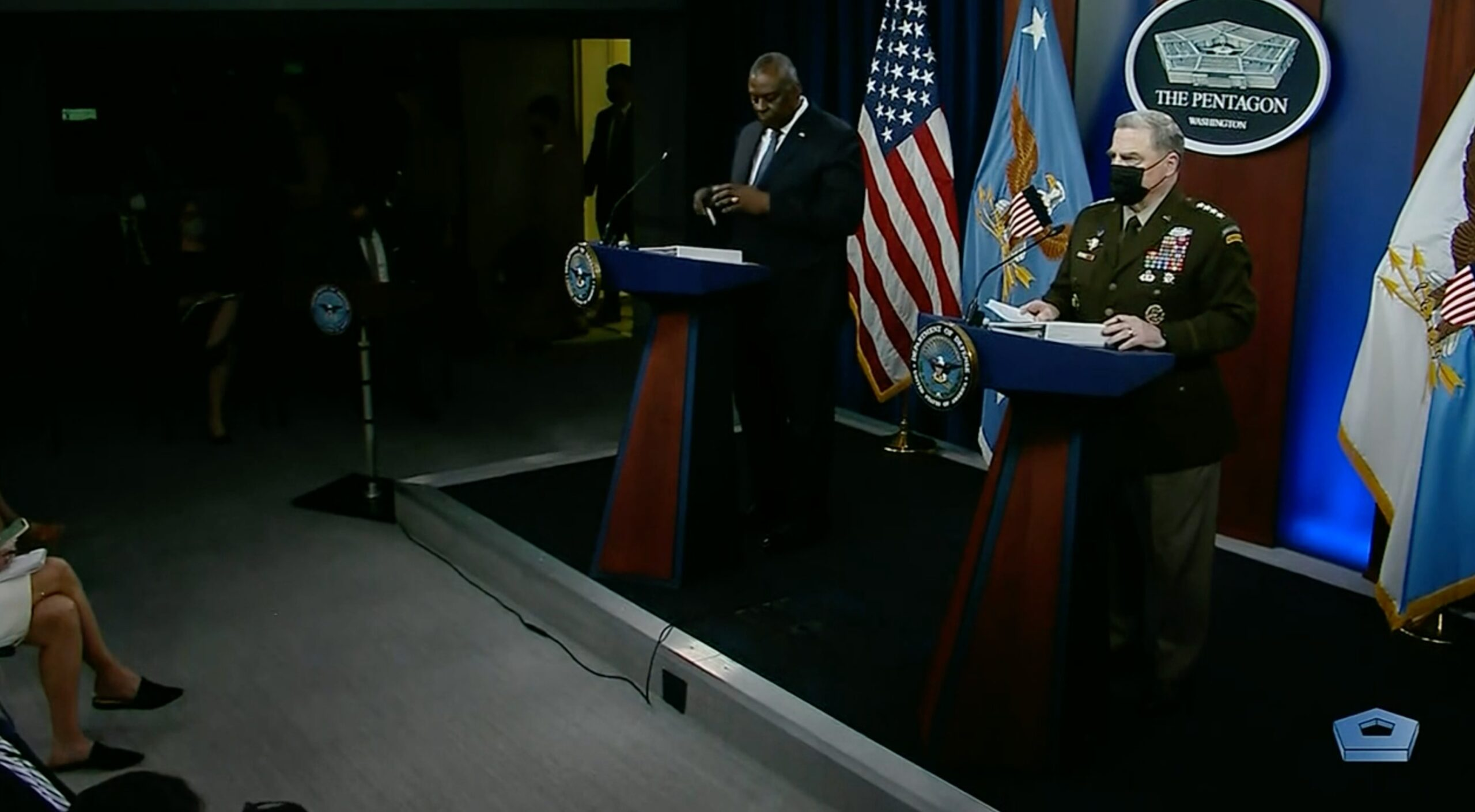 Secretary of Defense Austin and Chairman of the Joint Chiefs of Staff Gen. Milley Press Briefing
