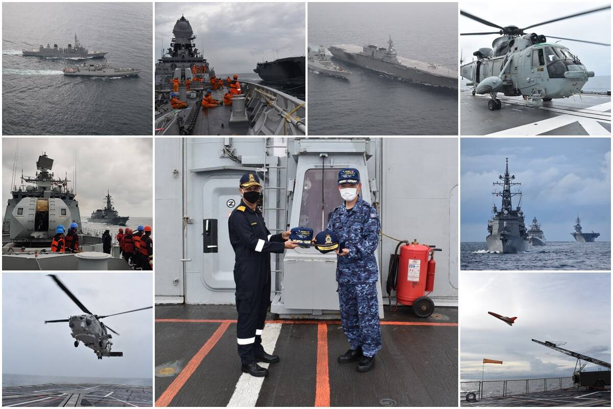 Ex-JIMEX concludes: Two QUAD members carry out complex drills at sea
