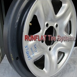 Runflat System for Armored Land Cruiser